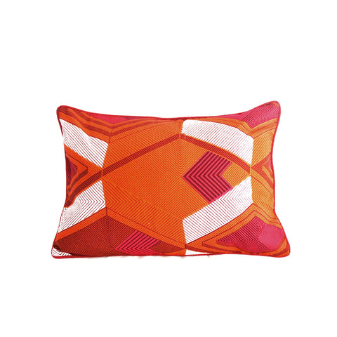 """Abstractions"" Wax Print Pillow"