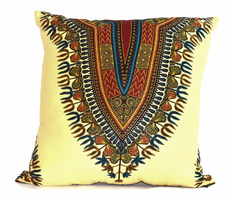 """Angelina Cream"" Wax Print Decor Pillow"