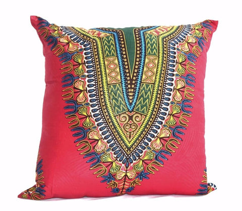 """Angelina Rosa"" Wax print decor pillow"