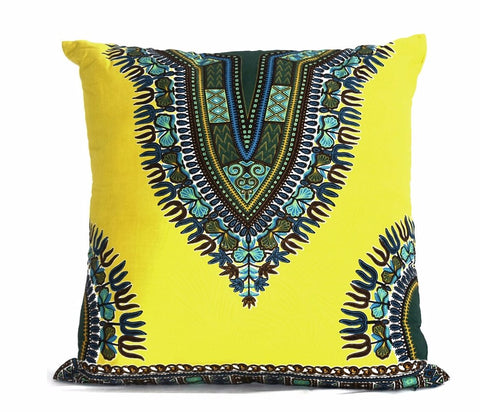 """Angelina Yellow"" Wax Print Pillow"
