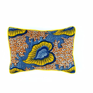 "Rectangular Decor Pillow ""Yellow Garden"""