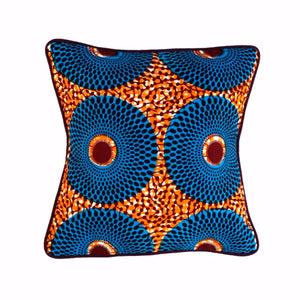 "Decor Pillow ""Blue Wheels"""
