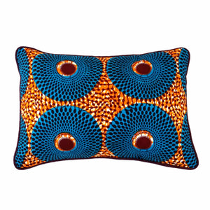 "Rectangular Decor Pillow ""Blue Wheels"""