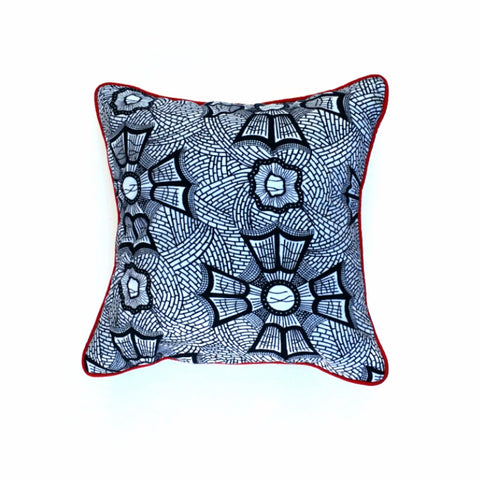 """Blue Web"" Square Pillow"