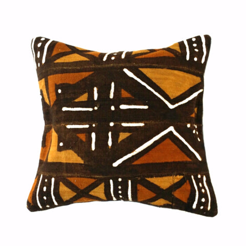 """4 Color Mudcloth"" Rectangular Pillow"