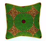 "Decor Pillow ""Green Wheels"""
