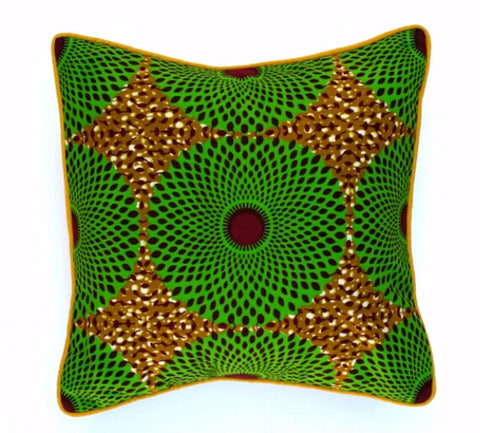 """Green Wheels"" Square Pillow"