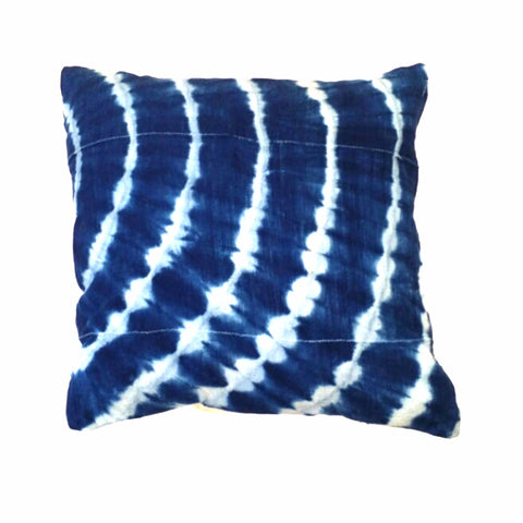 """Indigo Mudcloth"" Square Pillow"