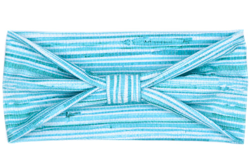 Wide Bow - Woven Grass Teal