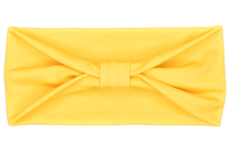 Wide Bow - Solid Sunshine Yellow