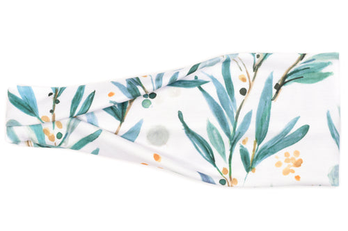 Modern Jersey Tri-Fold - Olive Branches on White