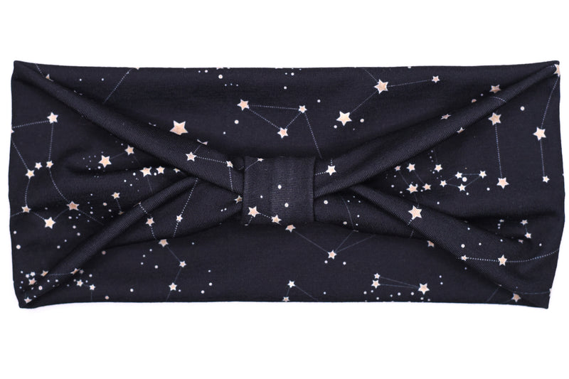 Wide Bow - Constellations on Black