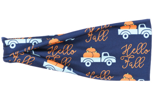 Modern Jersey Tri-Fold - Hello Fall on Navy