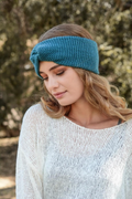 Hayley Twisted Knitted Headband - Teal