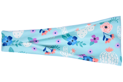 Modern Jersey Tri-Fold - Arizona Cactus on Blue