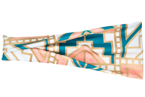 Modern Jersey Tri-Fold - Greek Goddess Teal & Peach