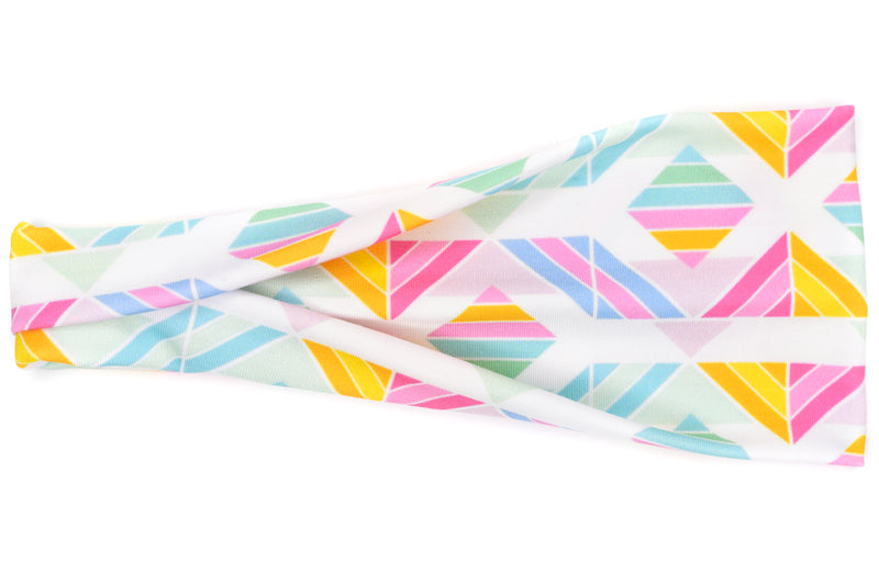 Modern Jersey Tri-Fold - Bright Geometric Shapes on White