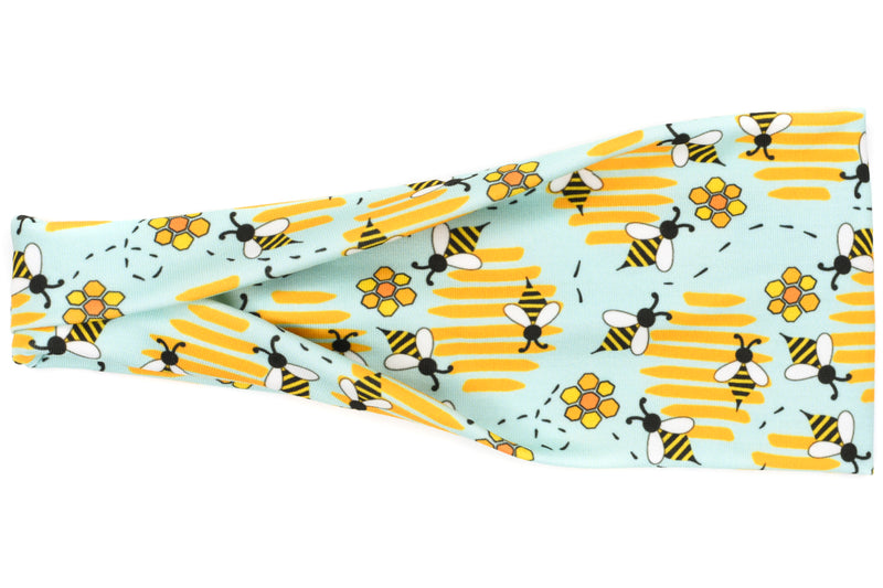 Modern Jersey Tri-Fold - Buzzing Bees & Hives on Mint