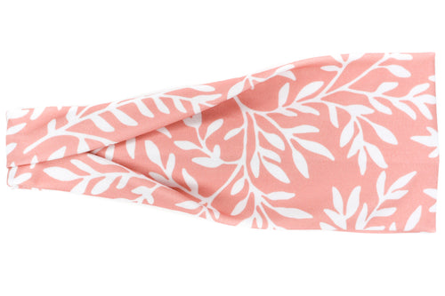 Modern Jersey Tri-Fold - White Branches on Pink