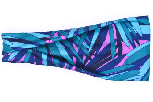Modern Jersey Tri-Fold - Purple & Teal Palms