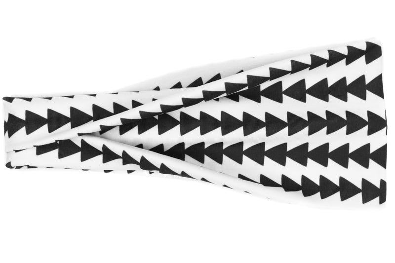 Modern Jersey Tri-Fold - B&W Arrow Triangles