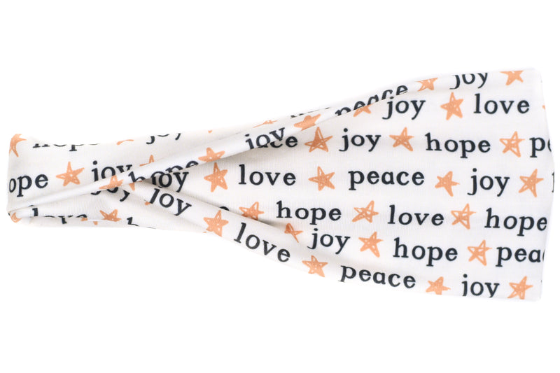 Modern Jersey Tri-Fold - Peace. Love. Joy. Hope.