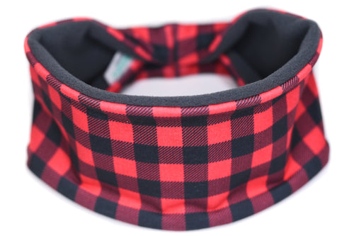 Polartec Fleece-Lined Headband - Buffalo Red Plaid