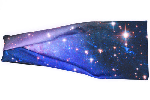 Modern Jersey Tri-Fold - Starry Night Galaxy Blue & Black