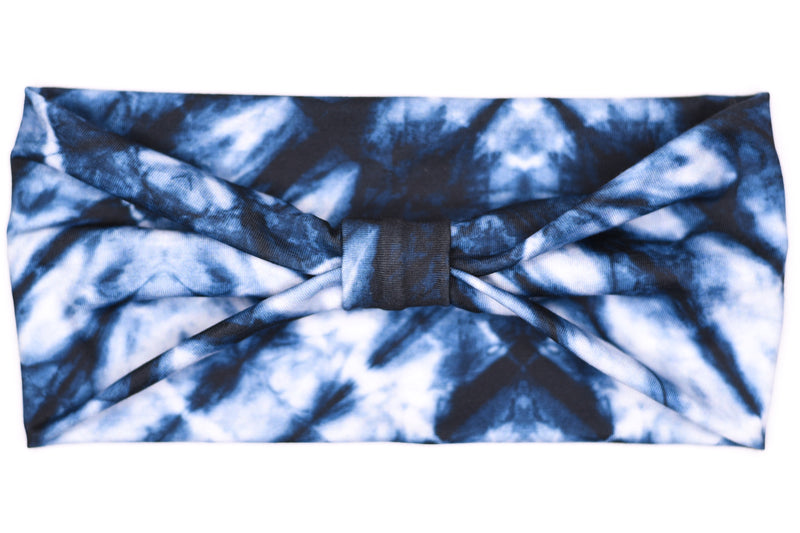Wide Bow - Midnight Tie Dye
