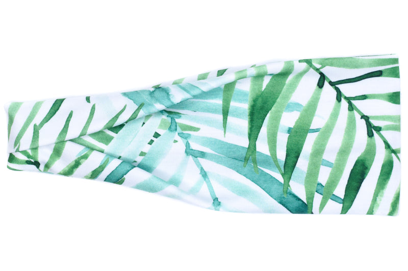 Modern Jersey Tri-Fold - Tropical Palm Trees on White
