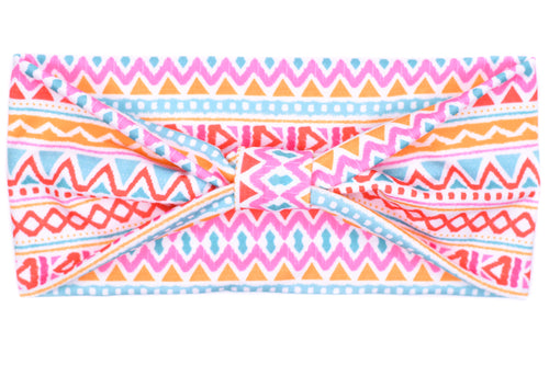 Wide Bow - Neon Aztec