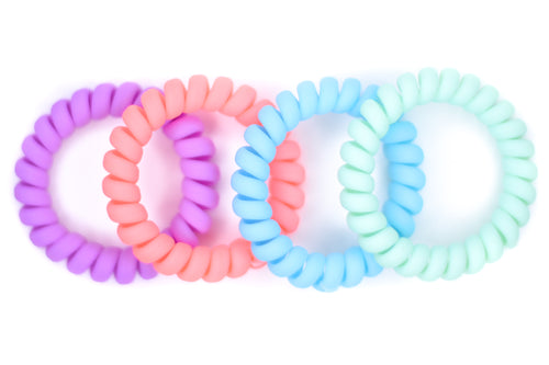 Hair Ties - 4 Pack - Cotton Candy