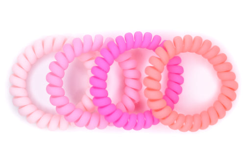 Hair Ties - 4 Pack - Think Pink