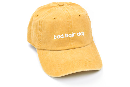 Fitness Fox Hat - Bad Hair Day - Mustard