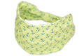 Wide Bow Headband - Neon Lime Anchor