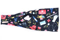 Modern Jersey Tri-Fold - Nurse/First Aid Floral on Black