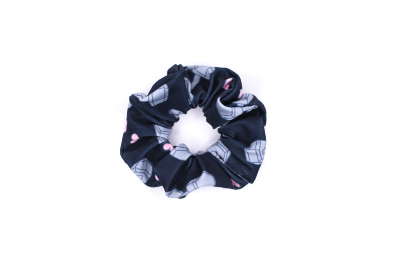 Scrunchie Hair Tie - Dumbbell Black