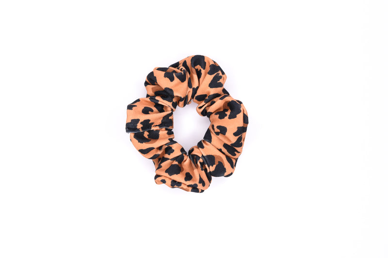 Scrunchie Hair Tie - Leopard on Tan