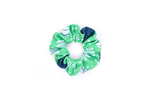 Scrunchie Hair Tie - Tropical Palm Green