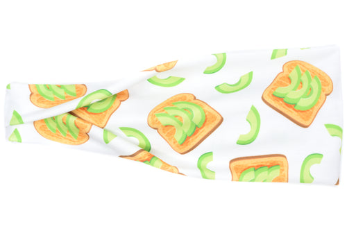 Modern Jersey Tri-Fold - Avocado Toast on White