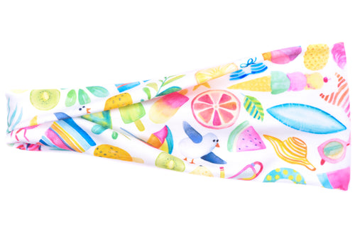 Modern Jersey Tri-Fold - Beach Party on White