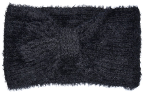 Chelsea Bow Knitted Headband - Black
