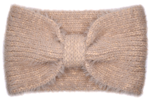 Chelsea Bow Knitted Headband - Camel