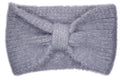 Chelsea Bow Knitted Headband - Grey