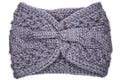 Tatum Bunched Knitted Headband - Charcoal