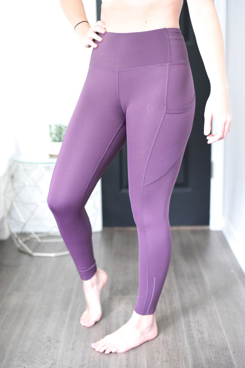 Empowerment High Rise Pocket Leggings - Plum