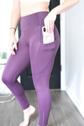 Empowerment High Rise Pocket Leggings - 7/8 Ankle - Plum