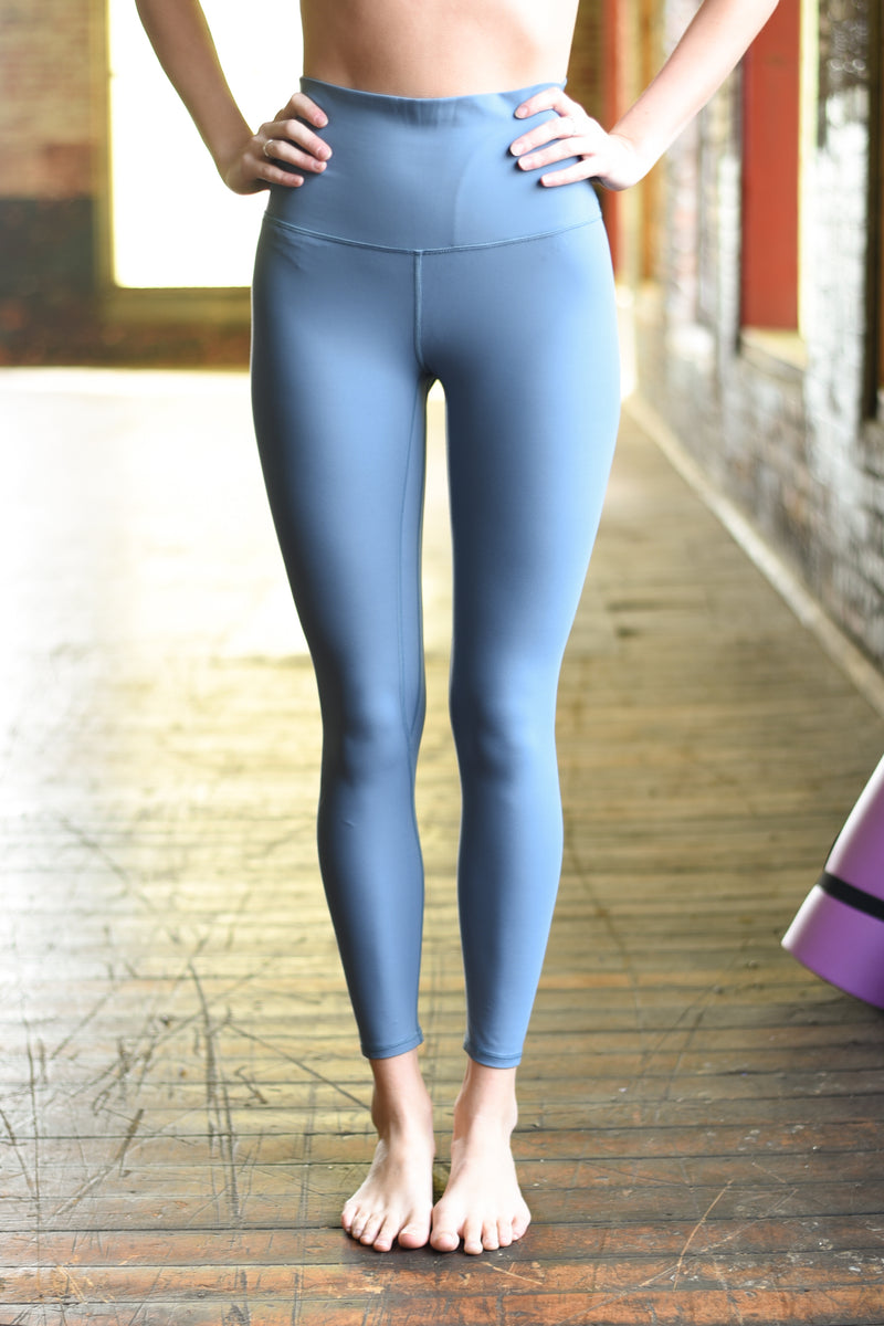 Super High Rise Limitless Weightless Leggings - 7/8 Ankle - Steel