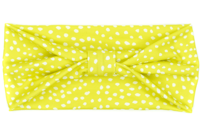 Wide Bow - Dots on Lime