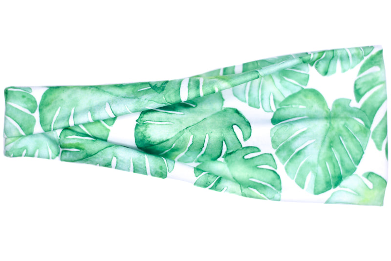 Modern Jersey Tri-Fold - Monstera Plant on White